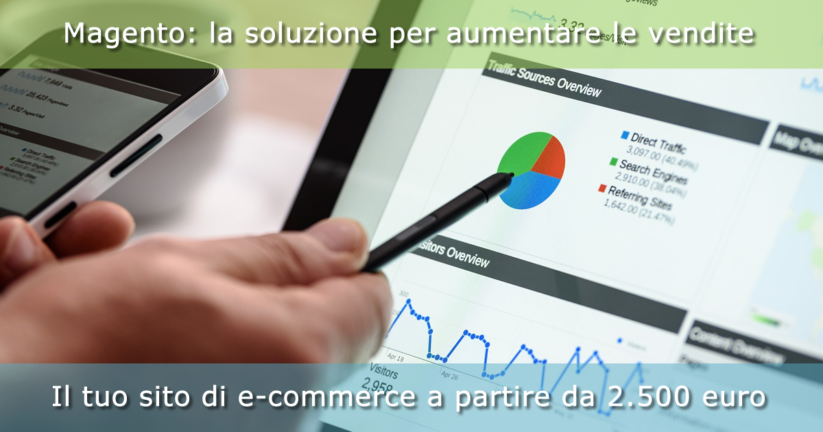 Con Magento il tuo sito di e-commerce a partire da 2.500 euro