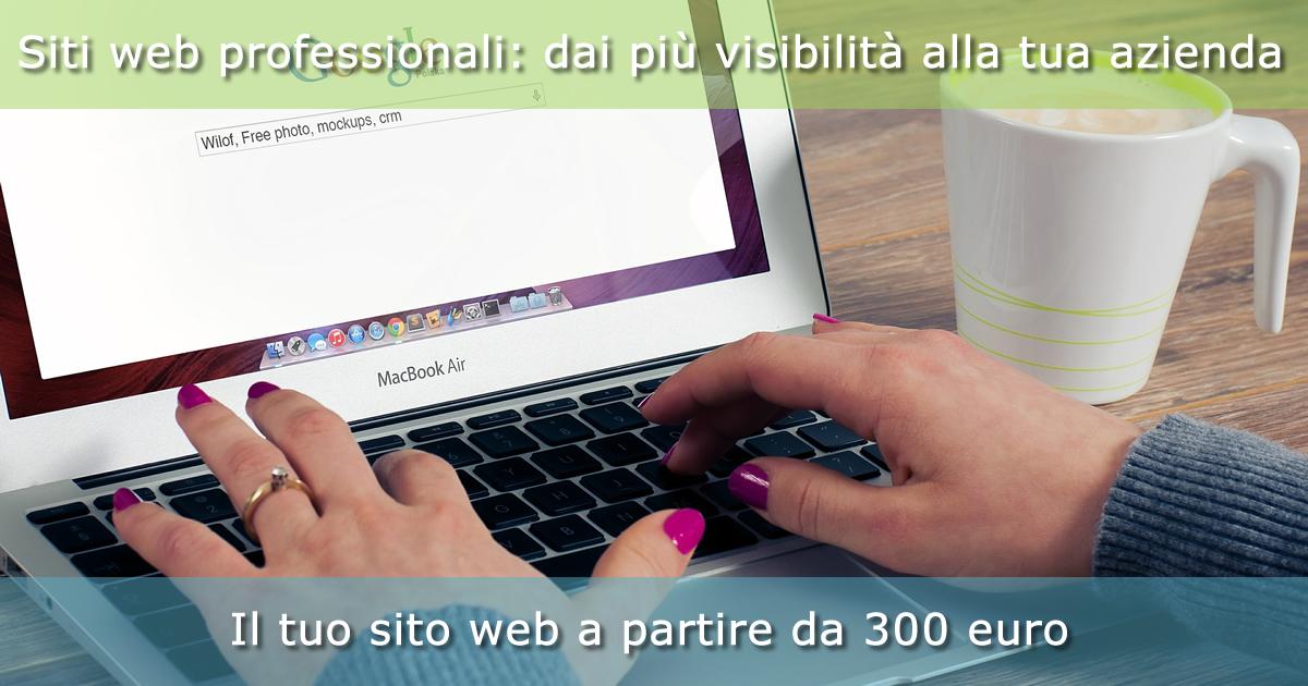 Sviluppiamo siti web a partire da 300 euro