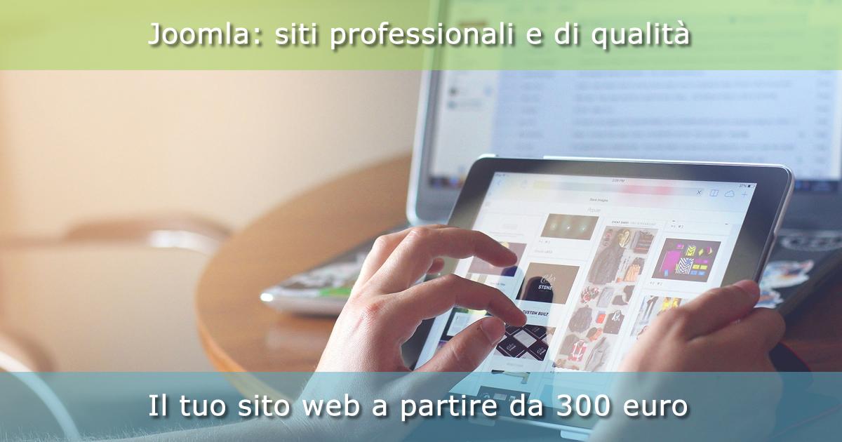 Sviluppiamo siti web con Joomla a partire da 300 euro