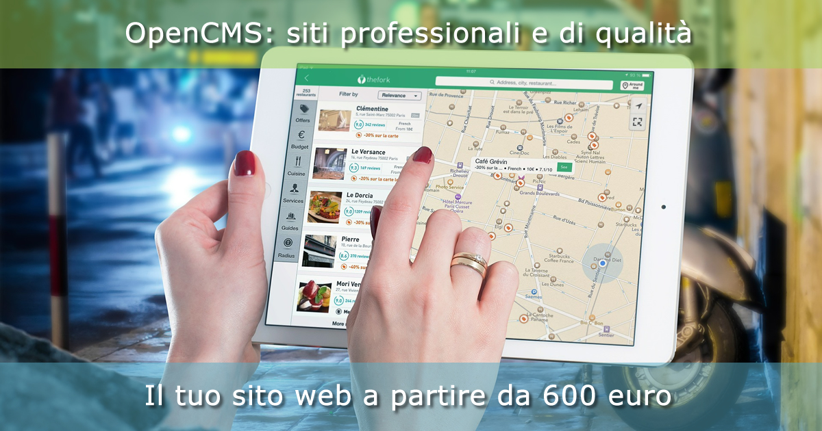 Sviluppiamo siti web con OpenCMS a partire da 600 euro