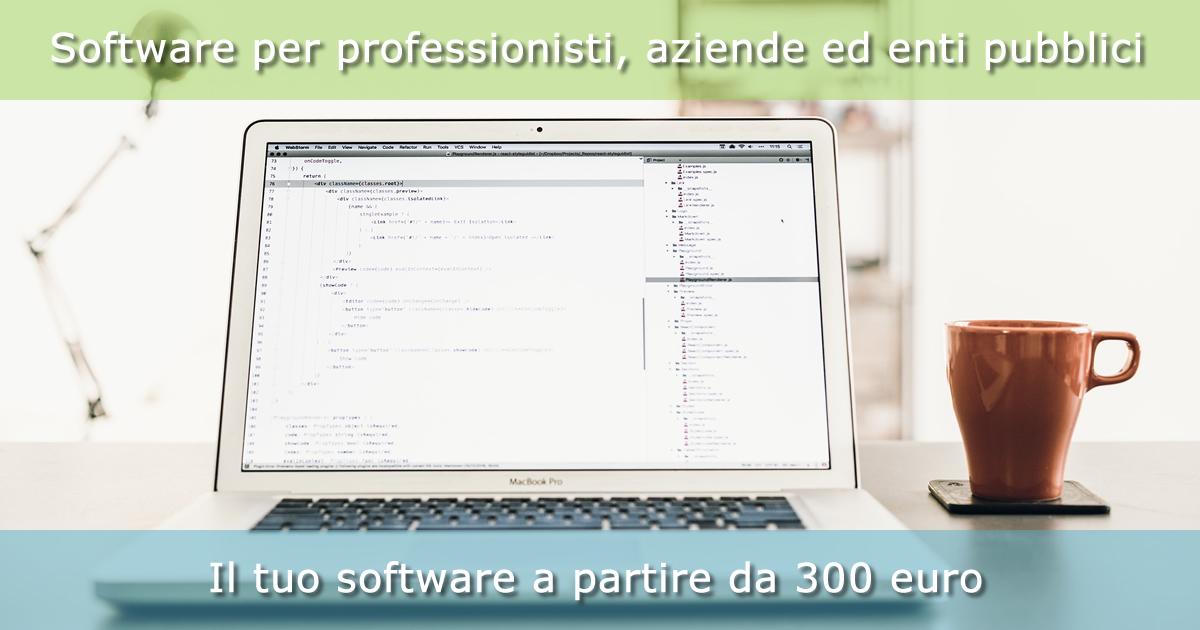 Software per professionisti, aziende ed enti pubblici